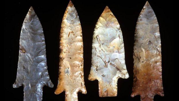 ilk insanların mızrak uçları