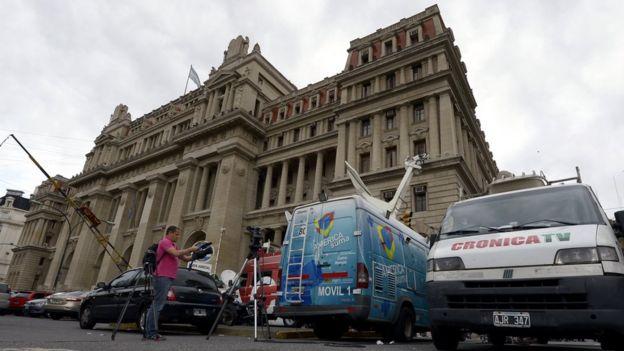 Edificio de la Suprema Corte de Buenos Aires.
