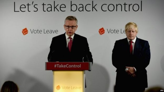 Michael Gove y Boris Johnson