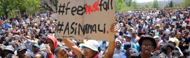Protesting students at Wits University - 10 October 2016
