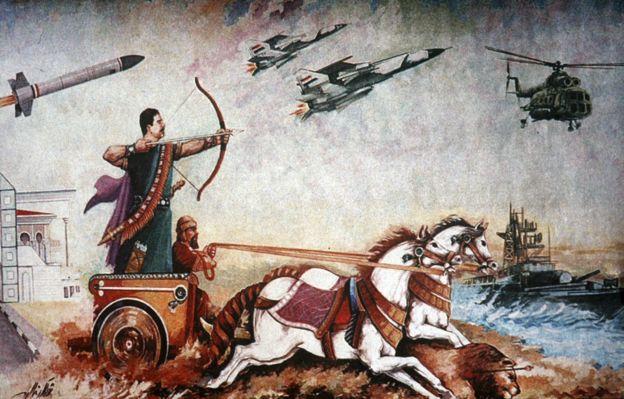 Saddam Hussein propaganda painting