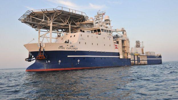 Embarcação da equipe de pesquisa
