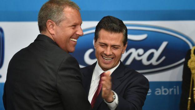 Joseph Hinrichs y Enrique Peña Nieto