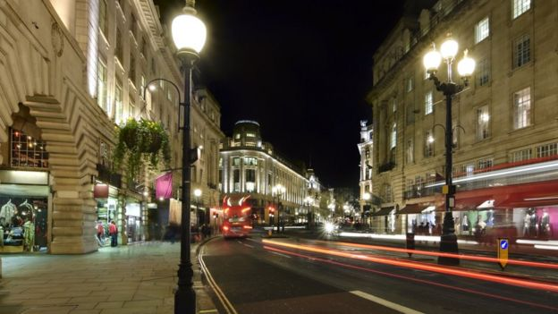 London street at night