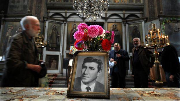 Una misa en memoria de Markov en Bulgaria