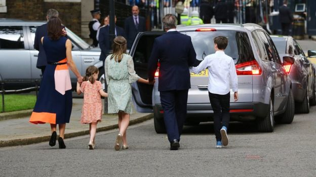 The Camerons leave Downing Street