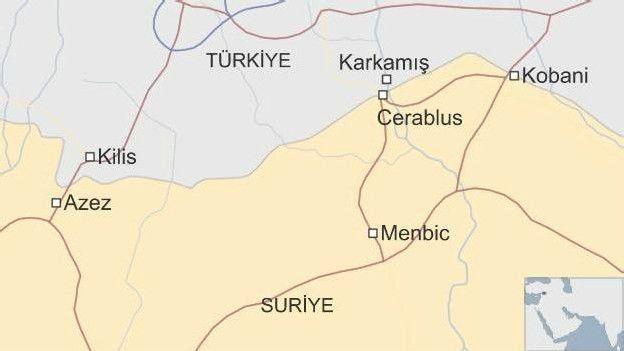 Menbic Cerablus harita