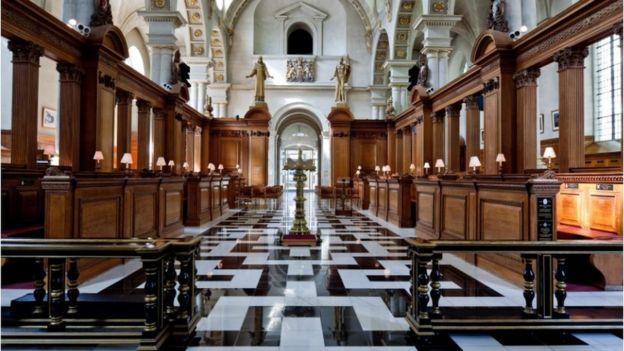 The interior of St Bride's