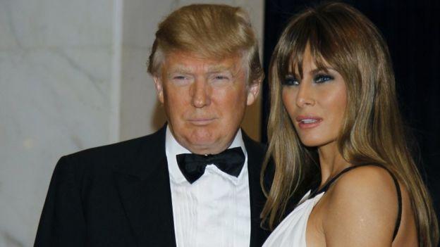 Donald na Melania Trump wakati ya hafla ya mwaka 2011