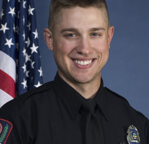 Officer Alan Horujko has been hailed as a hero, for killing the suspect within minutes of the rampage beginning