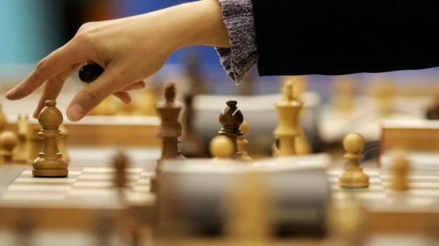 A chess match move