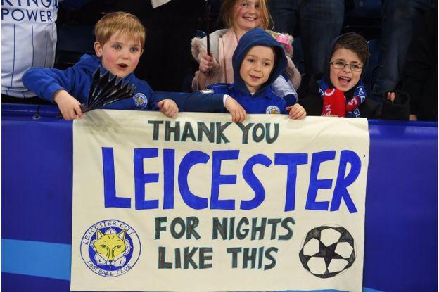 Leicester'ın küçük taraftarları üzerinde