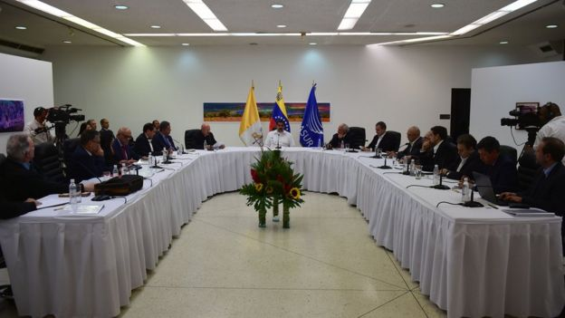 Talks begin in a bid to settle Venezuela's deepening political crisis, in Caracas on October 30, 2016