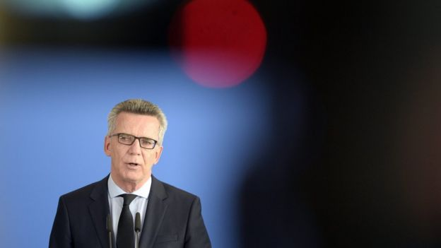 German Interior Minister Thomas de Maiziere