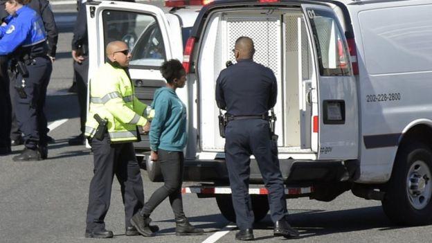 Cameras captured the suspect's arrest