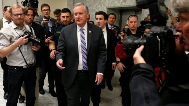 El representante republicano Mark Meadows, del Freedom Caucus