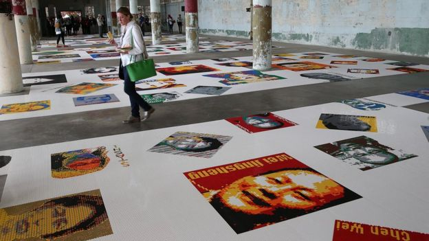 Ai Weiwei installation at Alcatraz
