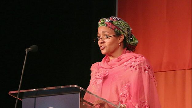Former Special Adviser to UN Secretary-General Ban Ki-Moon on post-2015 development planning, Amina Mohammed