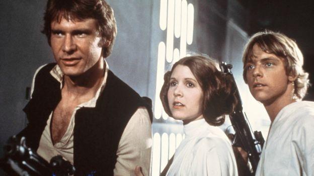 Harrison Ford, Carrie Fisher y Mark Hamill in Star Wars