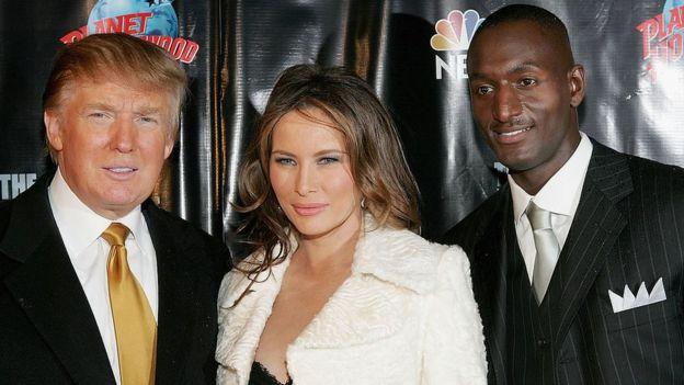 Donald Trump, Melania Trump y Randal Pinkett