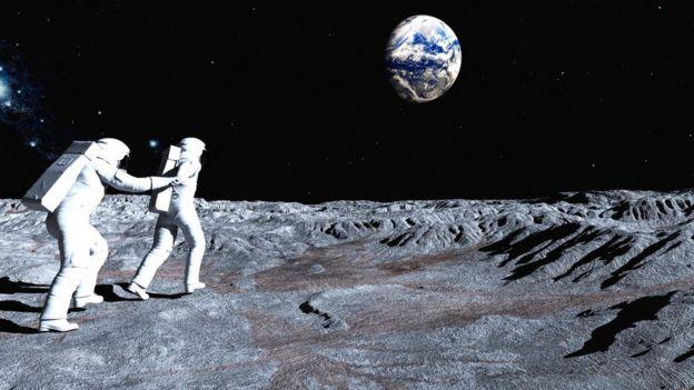 Ilustração de exploração da Lua