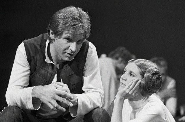 La Princesa Leia y Han Solo