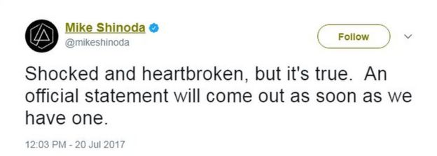 Mike Shinoda tweets: