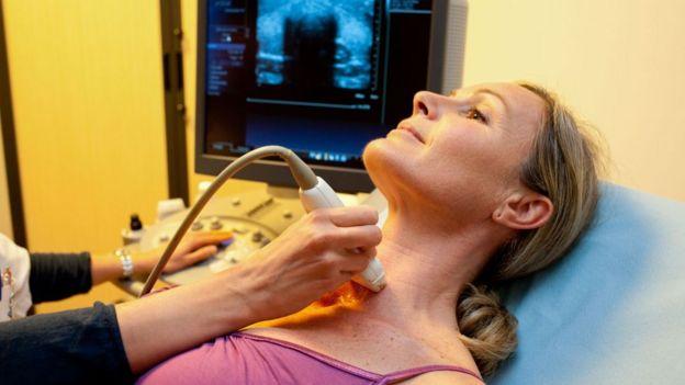 Escáner de tiroides