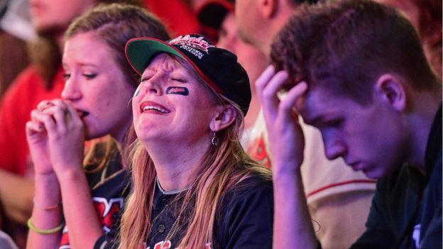 Fanáticos de Cleveland.