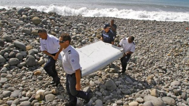 Flaperon removed from beach in Reunion (July 2015)