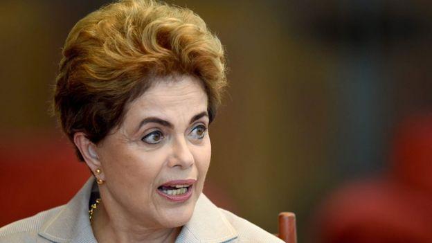 Dilma Rousseff, presidenta suspendida de Brasil