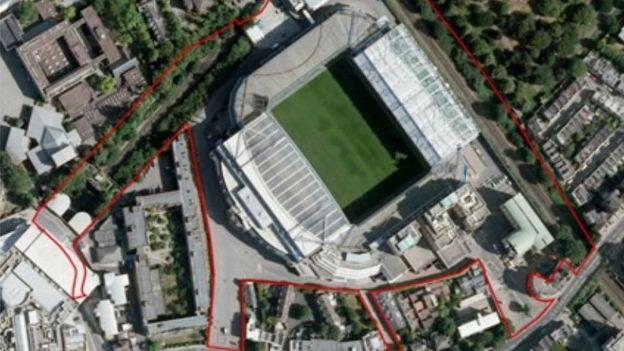 Plan of the new Chelsea stadium