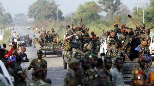 Ces militaires contrôlent contrôlent les corridors nord et sud ainsi que toutes les accès à la ville de Bouaké.