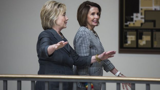 Clinton and Nancy Pelosi