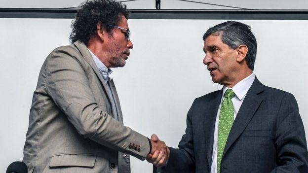Pastor Alape y Rafael Pardo
