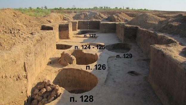 Розкопки могили у селі Червоний маяк