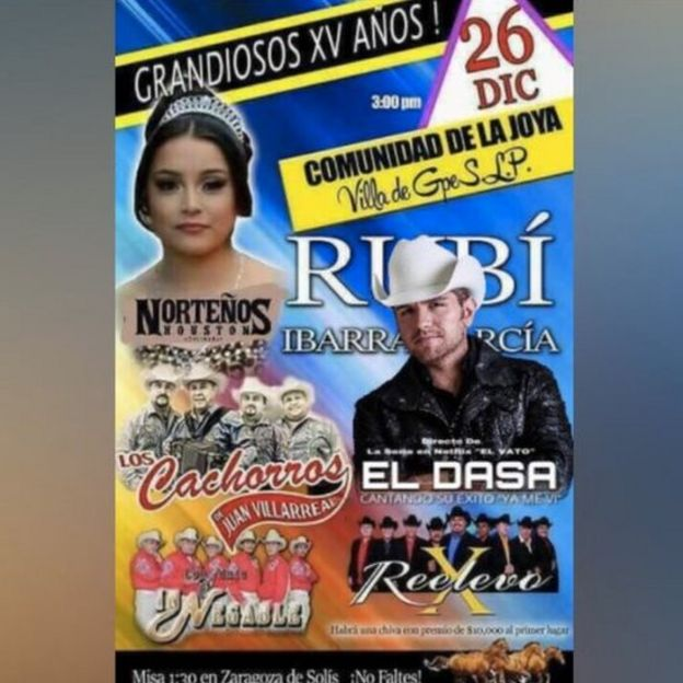 A screenshot of a flier for Rubi's party