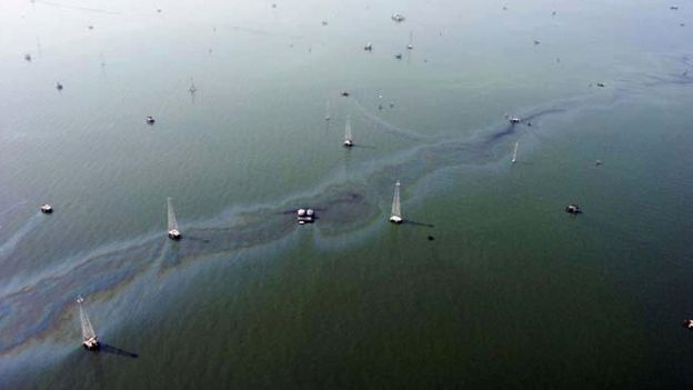 Derrame de petróleo en el Lago Maracaibo