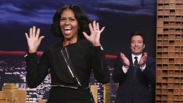 Michelle Obama and Jimmy Fallon