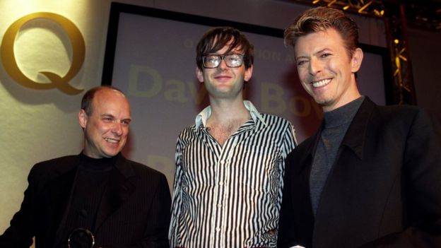 Brian Eno, Jarvis Cocker y David Bowie