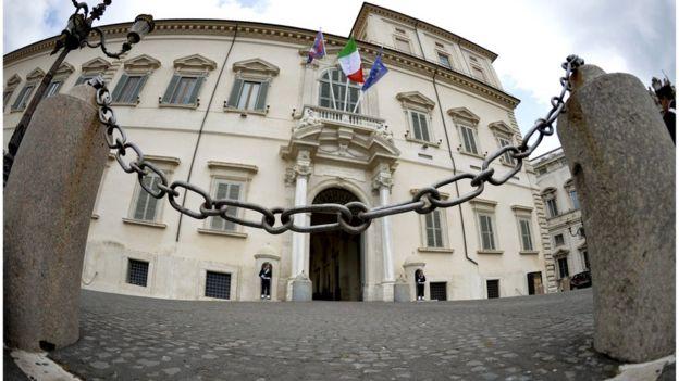 Palacio Il Quirinale, sede del gobierno italiano