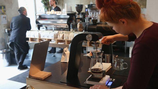 Filtrando café