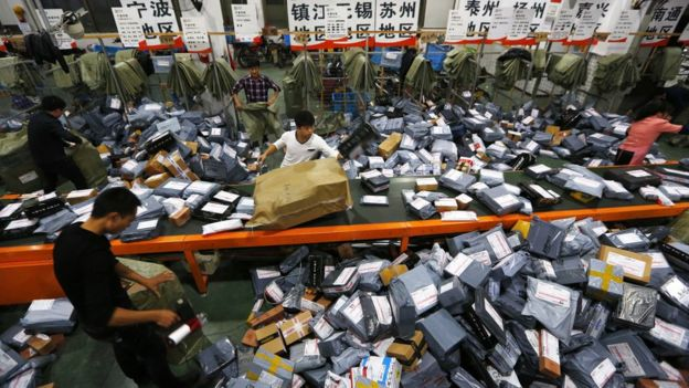 Parcels for shipping in China