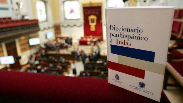 Ejemplar del Diccionario Panhispánico de Dudas de la RAE en la sede de la Academia.