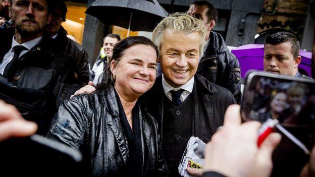 Geert Wilders en un acto de campaña