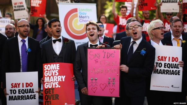 Gay marriage campaigners