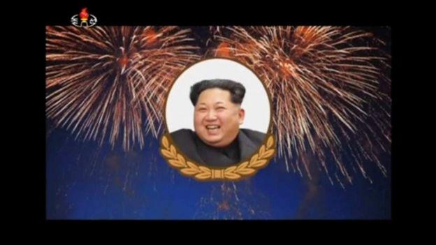 Rais Kim Jong-un ameonyeshwa kwenye runinga akiwa amejaa tabasamu