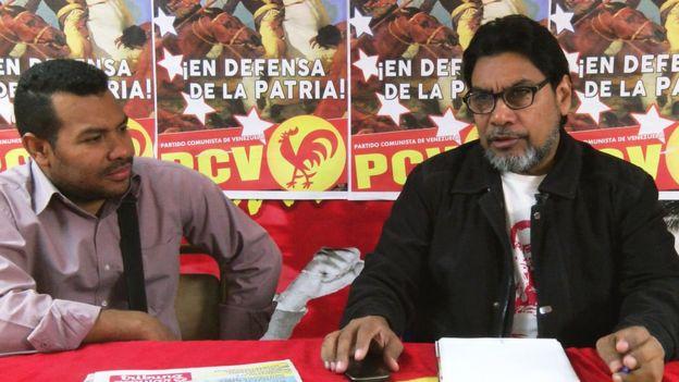 Tổng Bí thư Đảng Cộng sản Venezuela Carlos Figuera (bên phải)