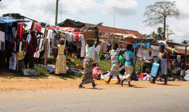 Street scene in Accra, Ghana