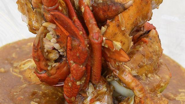 Singaporean chilli crab